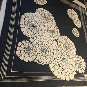 CHRISTIAN DIOR Art RARE Silk Floral Scarf LARGE 30